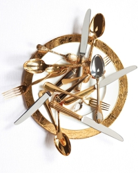 Gold cutlery group