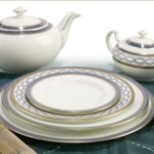 Aynsley Blue Garland Dinnerware