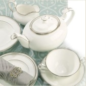 Aynsley Corona Platinum Dinnerware