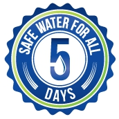 Grosche water safe for all 5 days logo