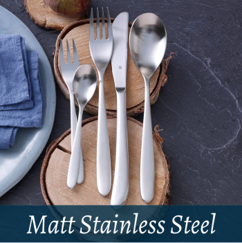 Cutlery matt stainless steel