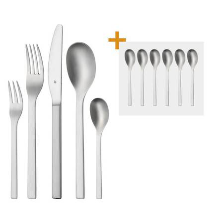 wmf linum 30 piece cutlery set with free espresso spoons. Black Bedroom Furniture Sets. Home Design Ideas
